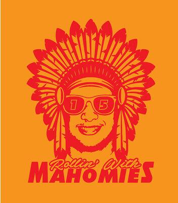 Kansas City American Football Team Shirt Rollin/' With Ma/'homes Mahomes Chiefs Football Team The Mahomes T Shirt