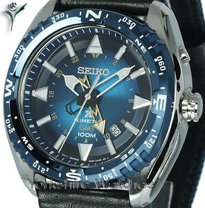 New-SEIKO-KINETIC-GMT-LAND-BLUE-FACE-Dual-Time-FABRIC-BUCKLE-STRAP-SUN059P1