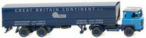 Pritschensattelzug 0517 02 1//87 Wiking Scania 111 M.A.T