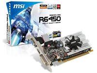 Msi Ati Radeon Hd6450 1 Gb Ddr3 Vga/dvi/hdmi Low Profile Pci-express Video Card