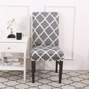 Enjoyable Details About Stretch Dining Room Chair Covers High Back Chair Protective Elastic Slipcover Bralicious Painted Fabric Chair Ideas Braliciousco