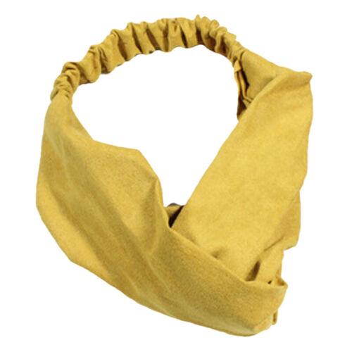 Haarband Damen Stirnband Kopfschmuck Yoga Schweißband Elastisch Twist Knoten Neu