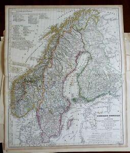 Scandinavia-Sweden-Norway-Finland-1849-Koehler-map