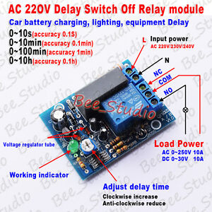 s l300 ac 220v 230v 240v timer delay turn on off switch time relay control