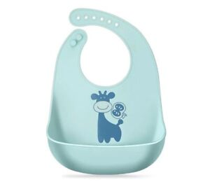 Pack of 3 Baby Unisex Baby Silicone Bibs Waterproof easy to clean bib