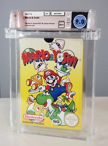 Mario & Yoshi - Graded Wata 9.0 Sealed A++ NES 1992 (Italian Version) - Nintendo