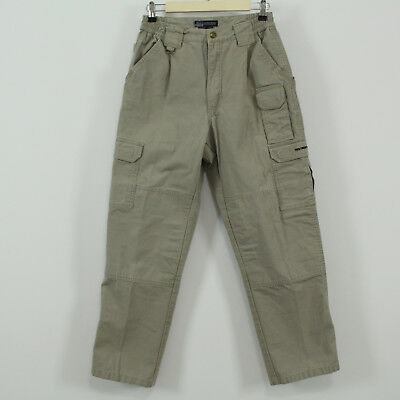 17e6b194 5.11 Tactical 100% Cotton Khaki Cargo Pants Tag Size 30/30 Textron Systems  Logo   eBay