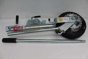 TROJAN-10-034-Jockey-Wheel-Premium-250mm-dia-Power-Mover-with-Ratchet-amp-Clamp-EZI