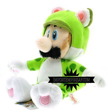 SUPER MARIO 3D LUIGI RANA PELUCHE wii u pupazzo new plush frog neko world cat