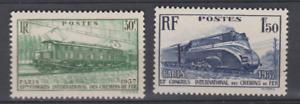 FRANCE-1938-YT-339-340-chemin-de-fer-train-N-MNH-NSC-COTE-18