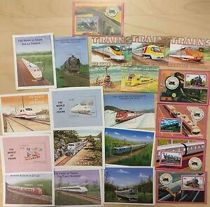 Lot of 21 beautiful Liberia train souvenir sheets MNH