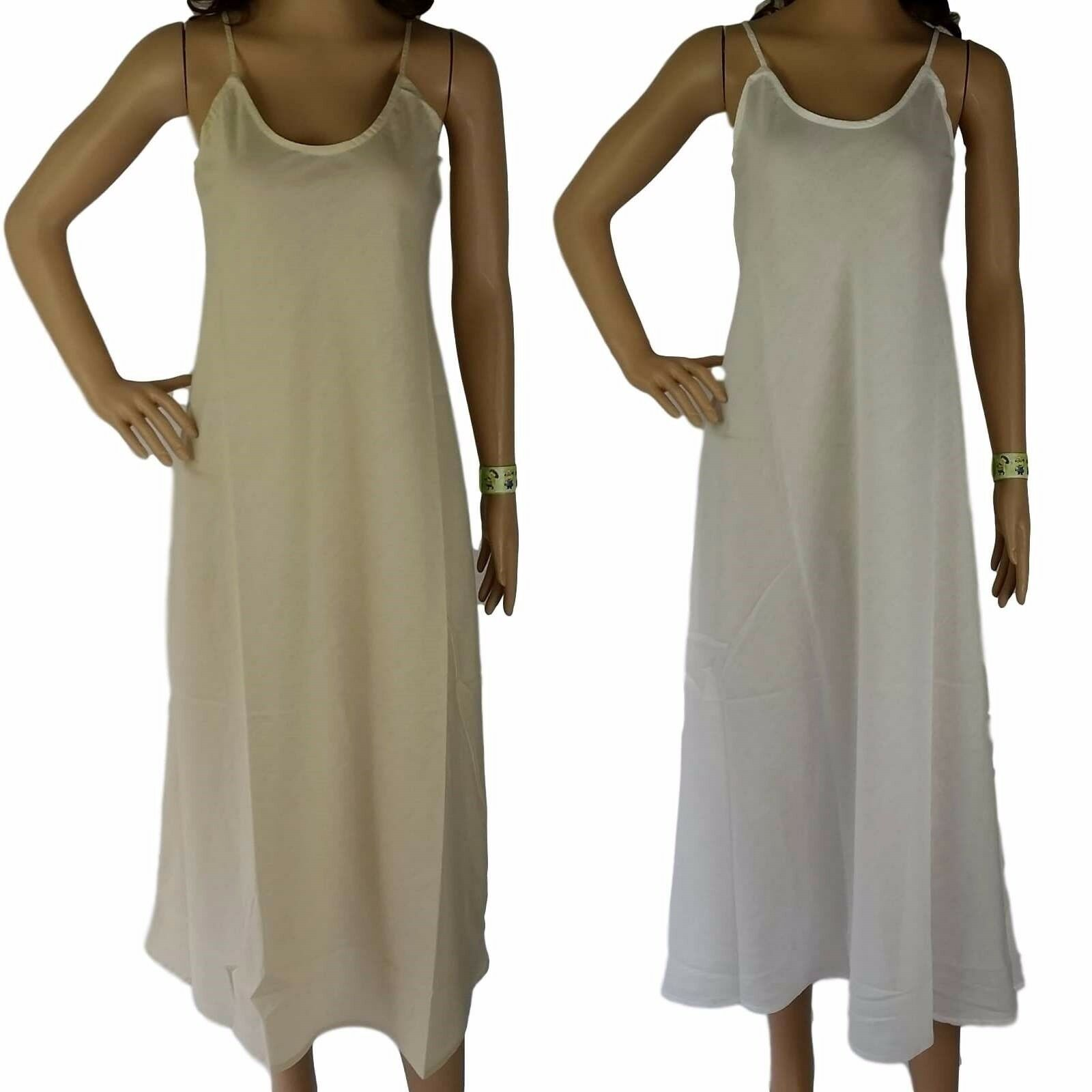 2 x COTTON SLIPS  NEW Long Womens Full Slip Size 12-20 Petticoats AUS Seller