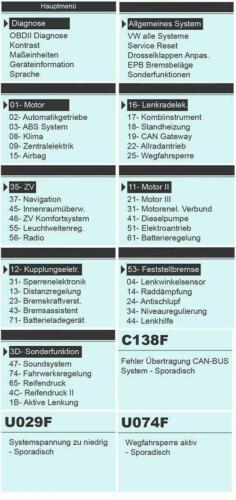 für VW Audi Seat Skoda Diagnose Fehler lesen löschen Service.. AutoDia SX45 Pro