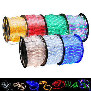 Led rope light 2 wire 110v lighting outdoor xmas christmas custom image is loading led rope light 2 wire 110v lighting outdoor aloadofball Image collections