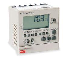 Electronic Timer Switch SPST, 7 Day, 100-240V, 15A, Panel Mount !CD3!