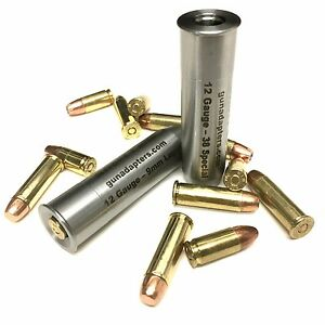 Details about 2 Shotgun Adapters- 12 Ga  to 9mm & 12 Ga  to 38 Special-  Chamber Reducers