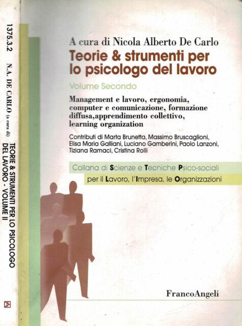 Teorie & strumenti per lo psicologo del lavoro. Management e lavoro, ergonomia,
