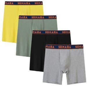 4er-Pack-Herren-Boxershorts-Unterwaesche-Joggen-und-Training-Schluepfer-Unterhose