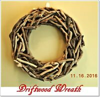 Beautiful Weathered Driftwood Wreath 20 Diameter Beach House Home / Door Decor