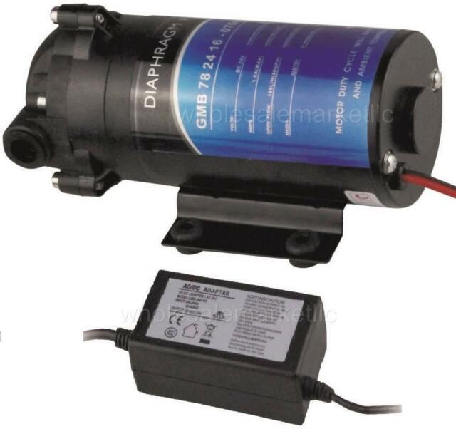 RO Booster Pump for 100 GPD Reverse Osmosis with Transformer Adapter
