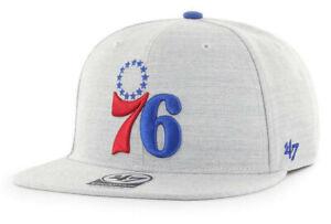 PHILADELPHIA 76ERS SIXERS NBA FLAT BILL SNAPBACK BORELAND CAP HAT NEW! '47 BRAND