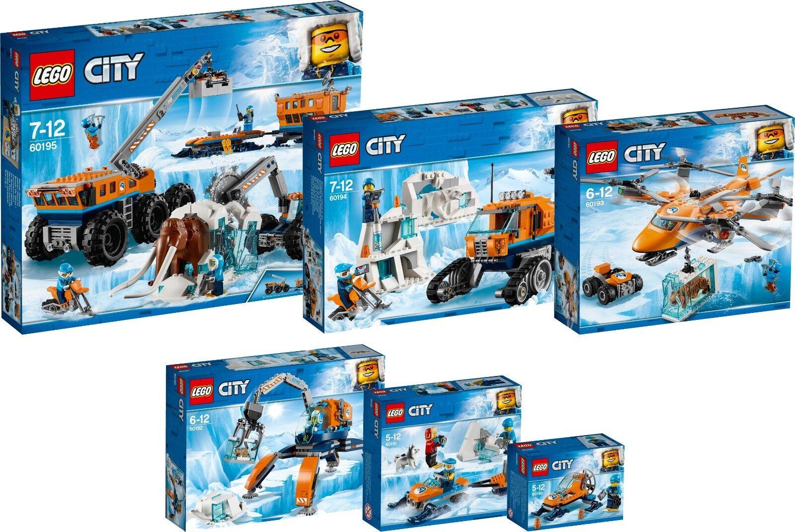 LEGO City Arktis Transport Transport Transport Full 60195 60194 60193 60192 60191 60190 NEU N7/18 65171f