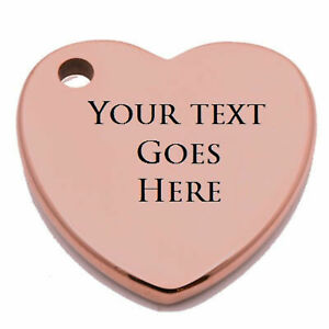 Customizable Laser Engraved Heart Shaped Rose Gold Tungsten Carbide Keychain