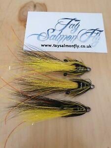 Yellow Exceptional Catches,Pls Read Description Salmon 3 x HKA SunrayTube Flies