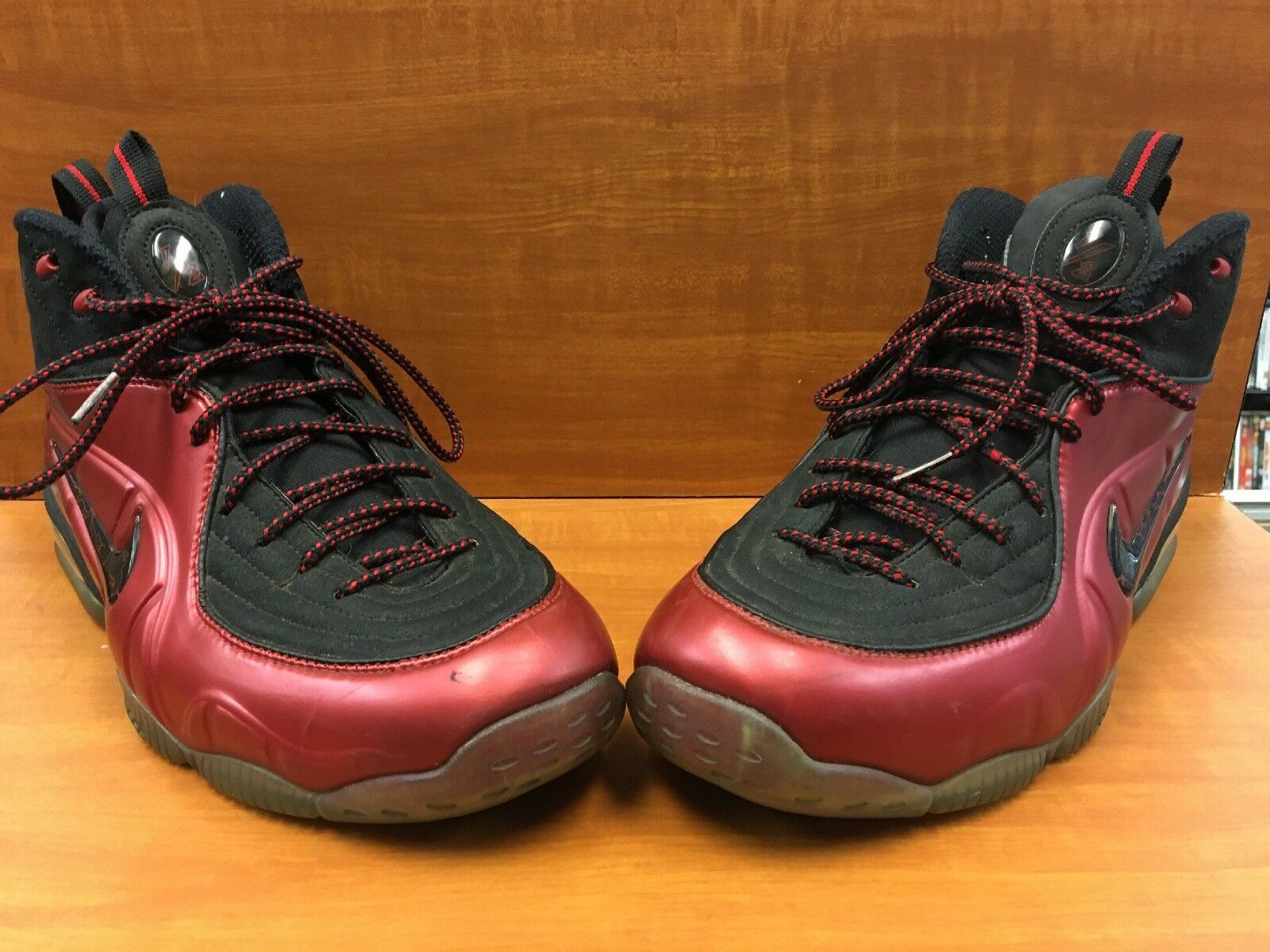"Nike Penny 1 2 Cent Foamposite ""Cranberry"" Varsity Red Black 344646-600 Size 12"