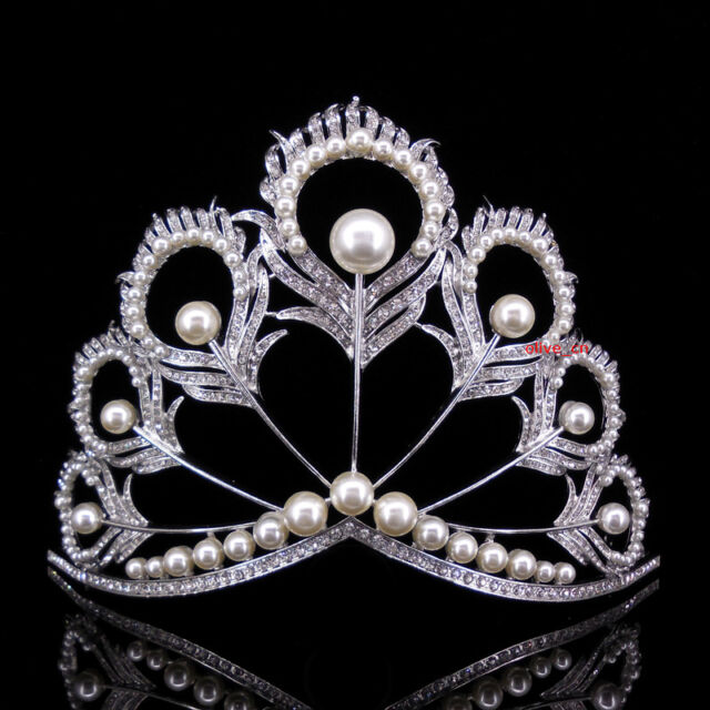 17cm High Crystal Huge Tiara Crown Wedding Bridal Party Pageant Prom Adjustable