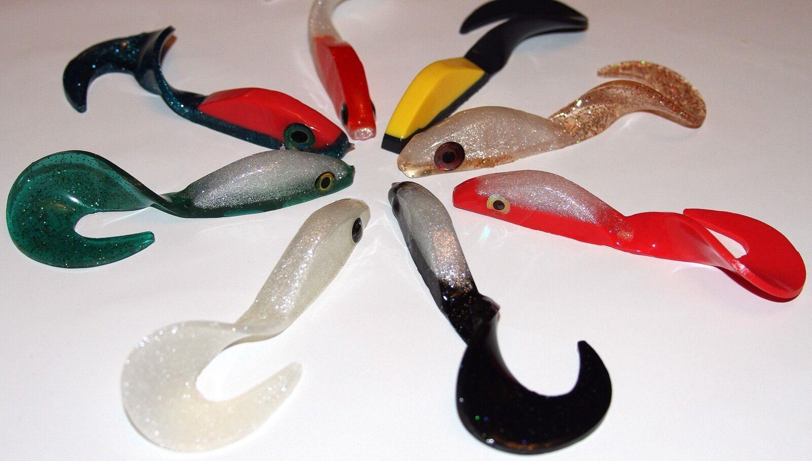 Plastica morbida esca esca esca da Pesca MAKING KIT Plastisol 4.5  CANGURO wiptail Swim Baits d42baf