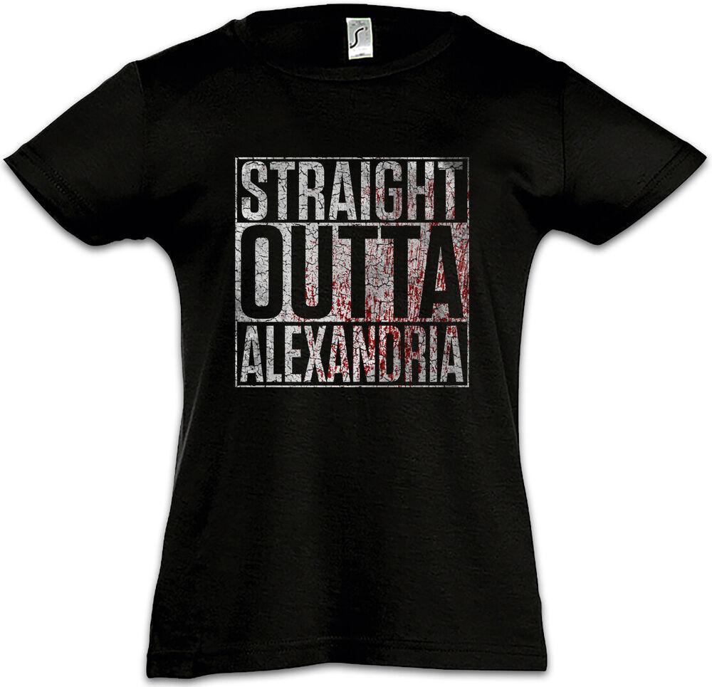 FidèLe Straight Outta Alexandrie Enfants Fille T-shirt The Fun Walking City Ville Dead Beau Lustre