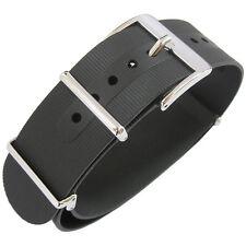 22mm Bonetto Cinturini Italy 328 2-Pc Black Rubber MoD G10 Dive Watch Band Strap