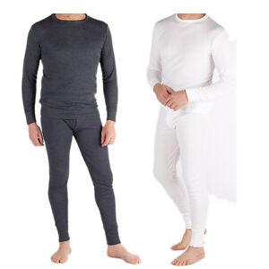 mens thermal underwear set long johns full sleeve vest top. Black Bedroom Furniture Sets. Home Design Ideas