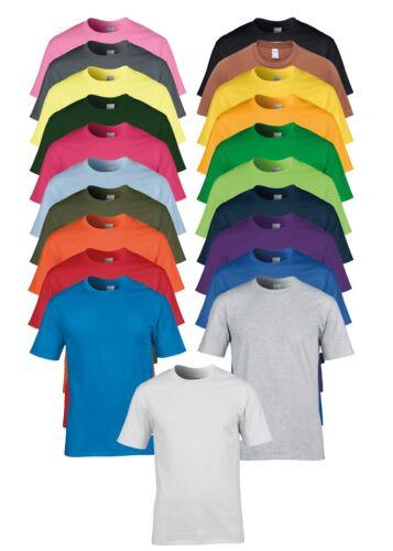 GD008 Gildan Premium 100/% coton à manches courtes T-Shirt