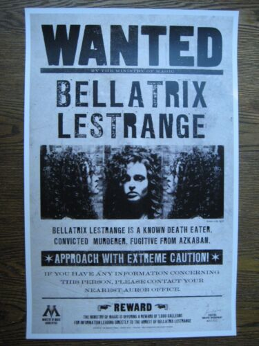 "Bellatrix/'s wanted Collector/'s Poster Print 11/"" x 17/"" B2G1F Harry Potter"