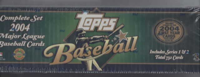 Topps Baseball Cards Complete Set 2004 Major League Series 1 And 2