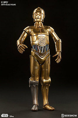 C-3po Sixth Scale Figure Star Wars Sideshow Collectibles 1/6 Figur Weich Und Rutschhemmend
