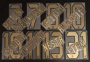 MILAN KIT NOME+NUMERO UFFICIALE HOME 2004-2007 OFFICIAL NAMESET PL SZ