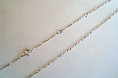 20 mm Argent Sterling 925 MAUVAIS ŒIL collier//cadena de PLATA Ojo de Los Angeles Suerte