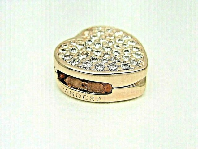 PANDORA Reflexions 2020 Pave Heart Clip Rose Charm 798684c01 Mother Day Gift