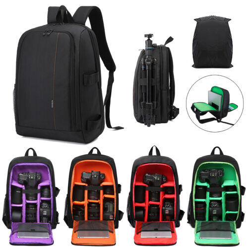 Waterproof Large Dslr Camera Backpack Laptop Bag For Canon Nikon With Rain Cover by Unbranded/Generic
