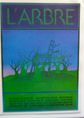 Jean-Michel Folon Poster for Exhibition on Beauty of Trees L'Arbre
