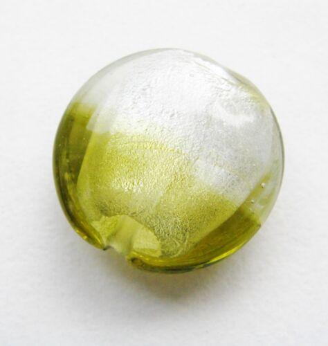 Argent diapositives Perles De Verre Buttons 29 mm 2 pièce serajosy