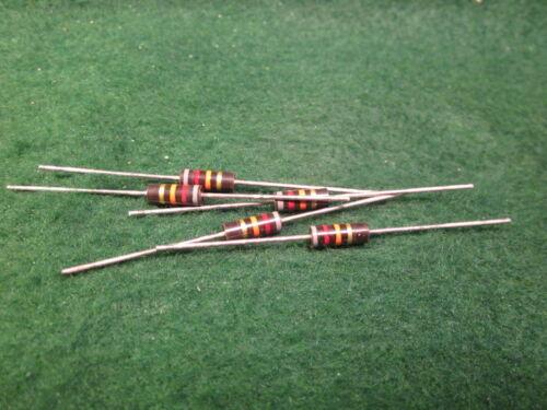 1 5 Pack Carbon Comp 82K OHM 1//2 Watt 5/% Resistors NOS