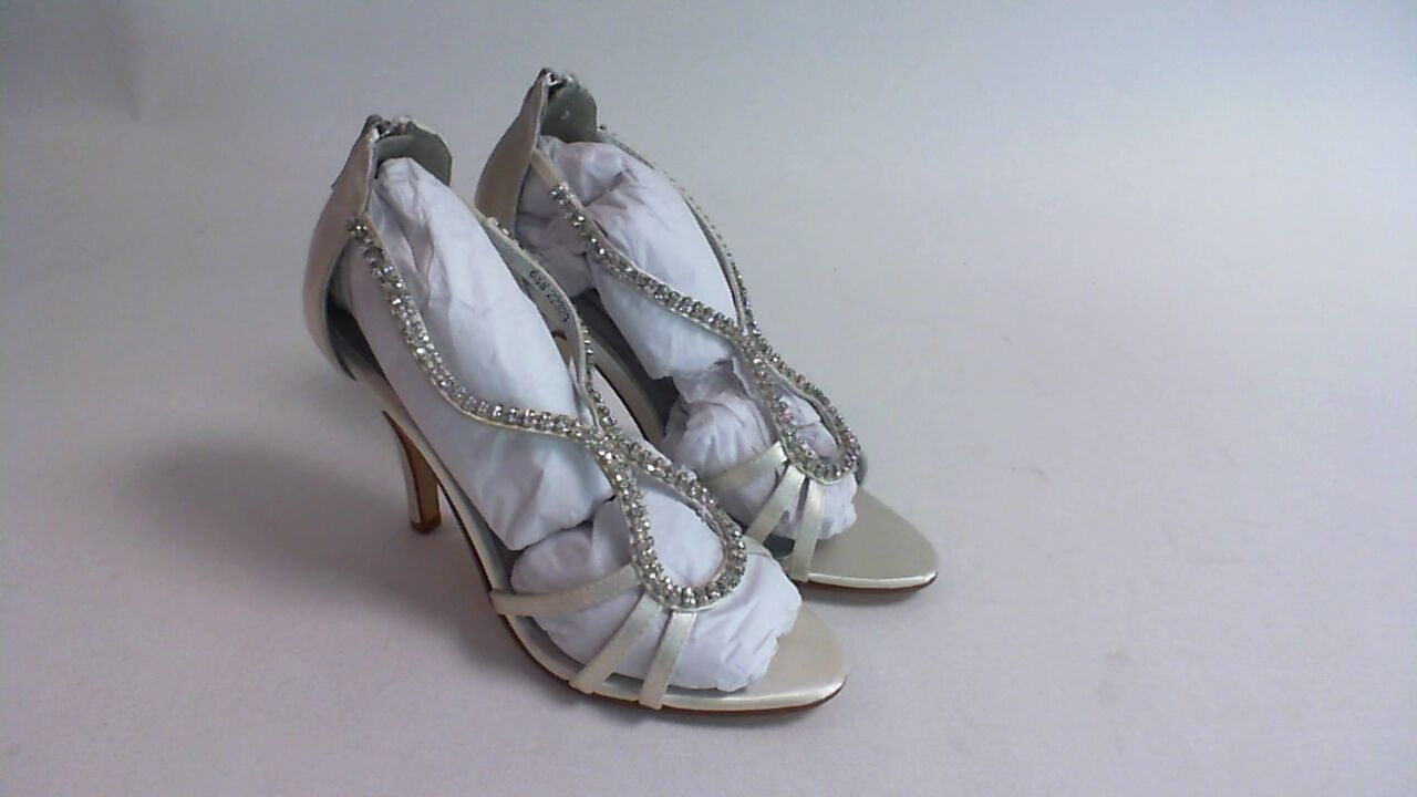 New Dyeables Wedding Shoe - Ivory Satin - Josie - US 7 B UK 5 #28R505