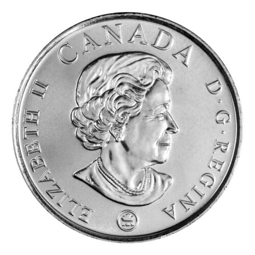 2008 Red Poppy 25 Cents Quarter Canada Coin Remembrance Day from Mint Roll!