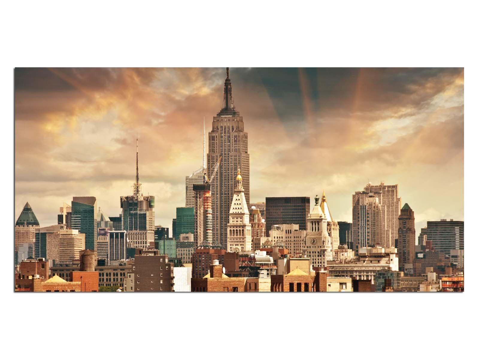Deco De Vidrio Imagen eg4100500476 Empire State New York Color Tamaño 39,37  x 19,6
