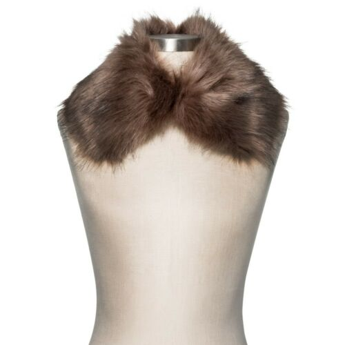Red Pick Color Women/'s Faux Fur Collar Burgundy New - Tevolio or Tan