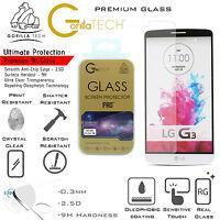 100% Genuine Gorilla Tech Tempered Glass Film Screen Protector Shield For LG G3